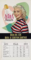 <h1> Anonymous </h1>Astra Lambalari calendar 1955<br /><b>42 | A |  Anonymous  - Astra Lambalari calendar 1955 | &euro; 80 - 140</b>