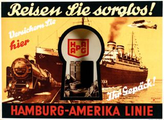 hamburg amerika linie plakat