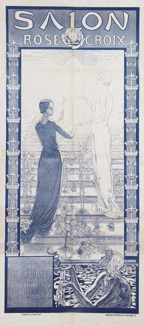 Van sabben poster auctions highlights for Salon rose croix
