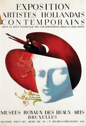 Van sabben poster auctions poster designer for Poster contemporain