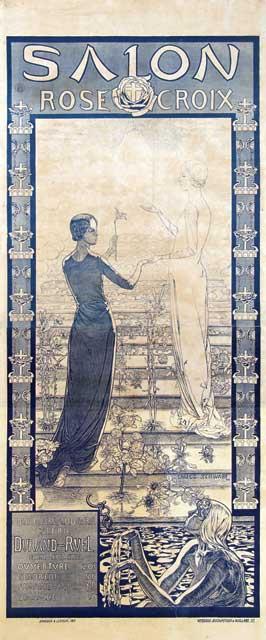 Van sabben poster auctions poster designer for Salon rose croix