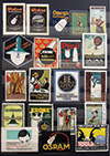 <h1> various artists </h1>Collection of ca. 450 Poster Stamps<br /><b>821 | A/B+ |  various artists  - Collection of ca. 450 Poster Stamps | € 300 - 700</b>