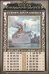 <h1>Albert Hemelman (1883-1951)</h1>Royal Holland Lloyd Europe-South America calendar 1926-1927<br /><b>50 | B/B+ | Albert Hemelman (1883-1951) - Royal Holland Lloyd Europe-South America calendar 1926-1927 | &euro; 220 - 350</b>